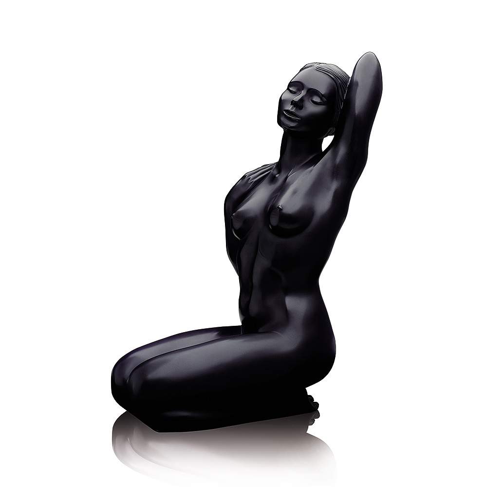 Aphrodite, Grand Nude sculpture | Limited edition (99 pieces), black crystal | Sculpture Lalique