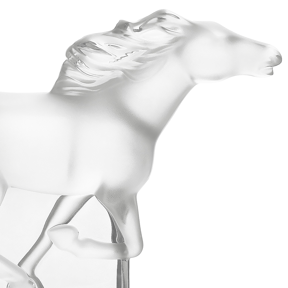 Kazak Horse sculpture | Clear crystal | Sculpture Lalique