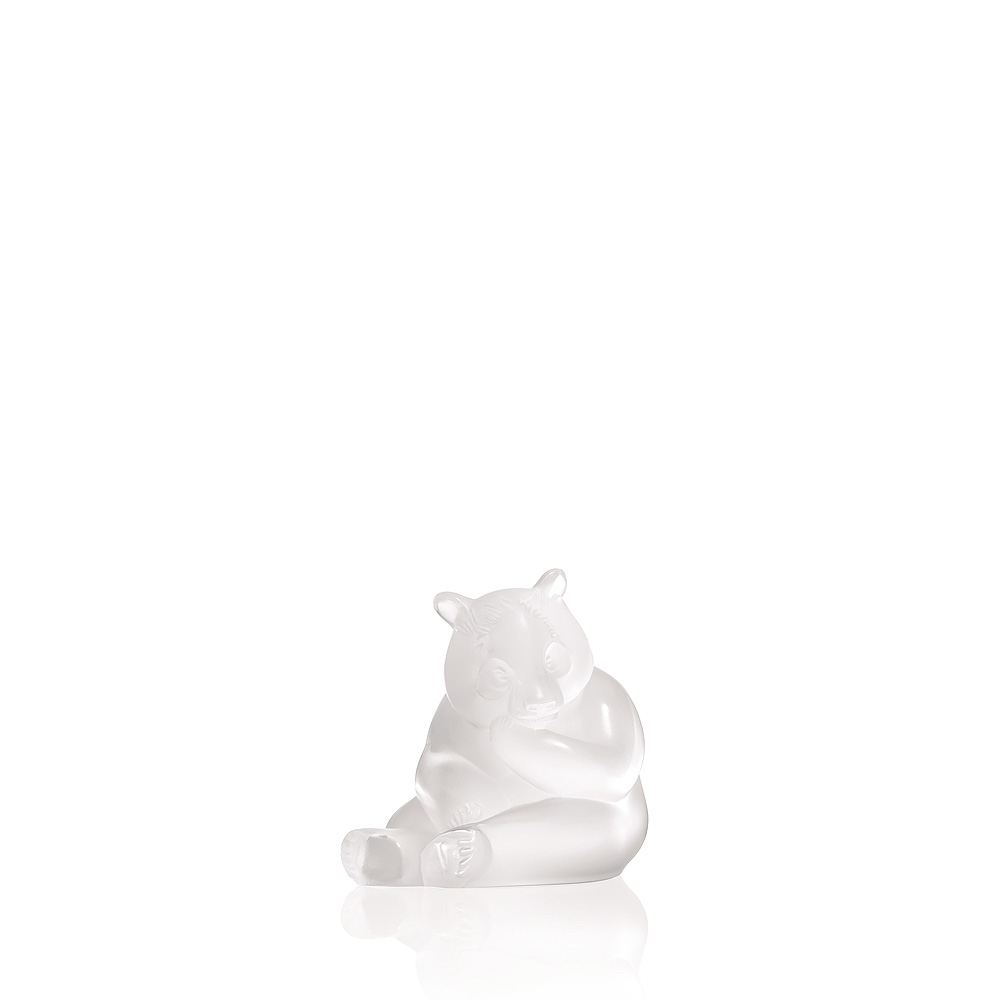 Panda sculpture | Clear crystal | Sculpture Lalique