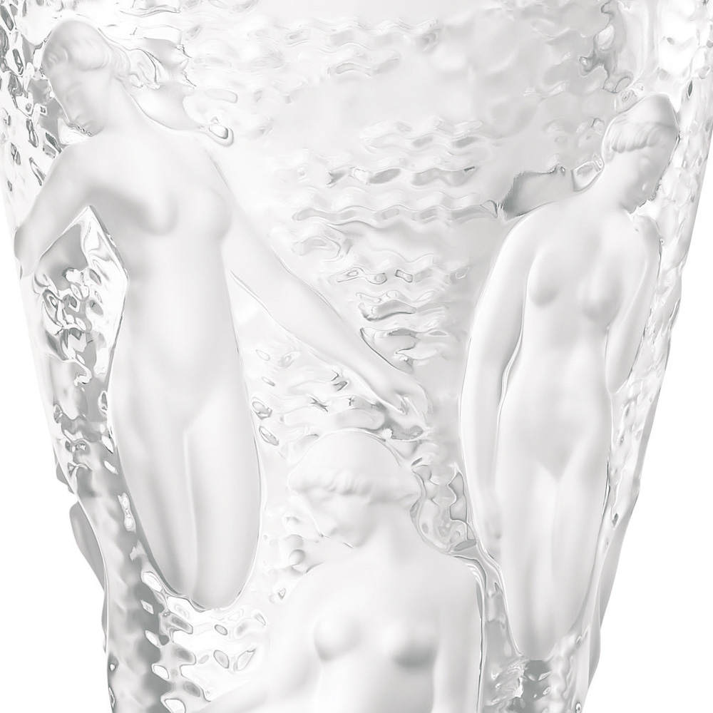 Ondines vase | Clear crystal | Vase Lalique