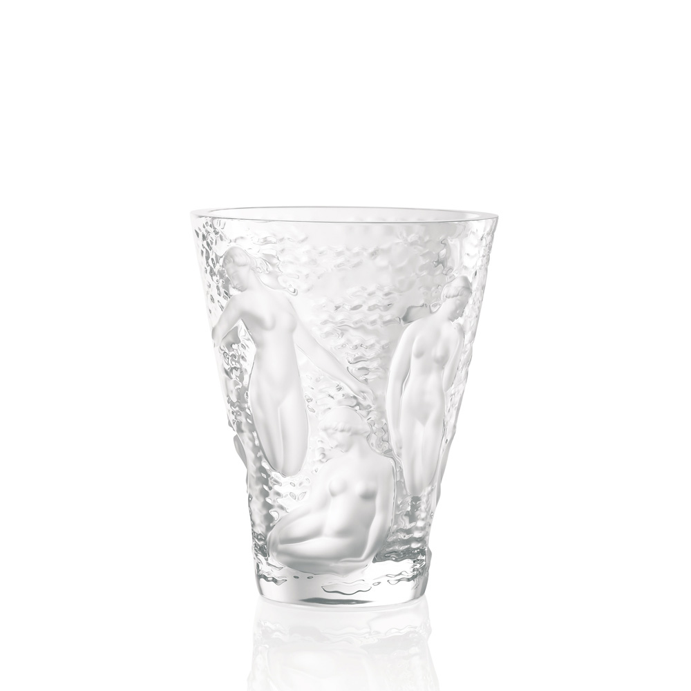 ondines vase clear crystal vase lalique - Lalique Vase