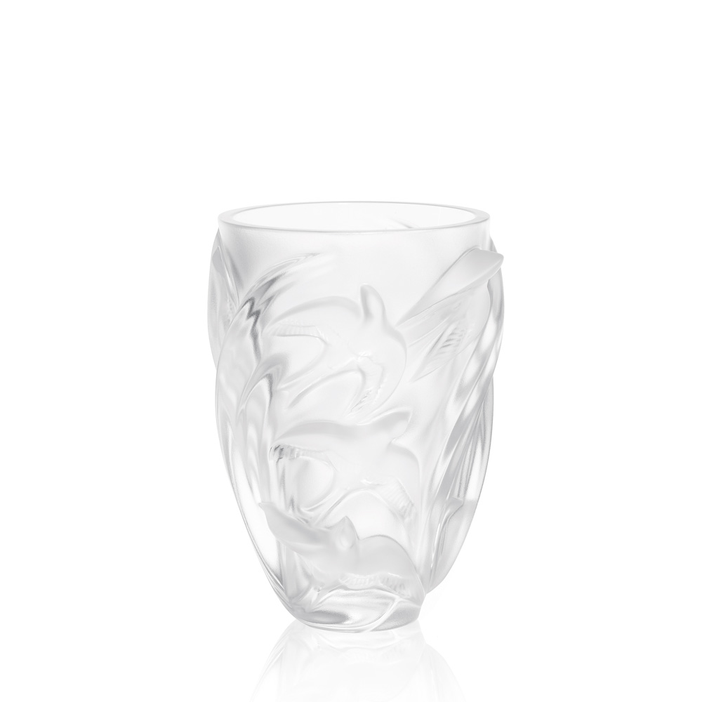martinets vase clear crystal vase lalique - Lalique Vase