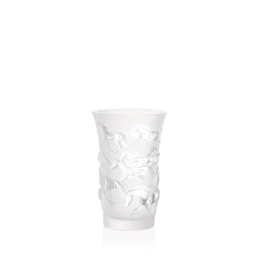 Mustang vase | Clear crystal | Vase Lalique