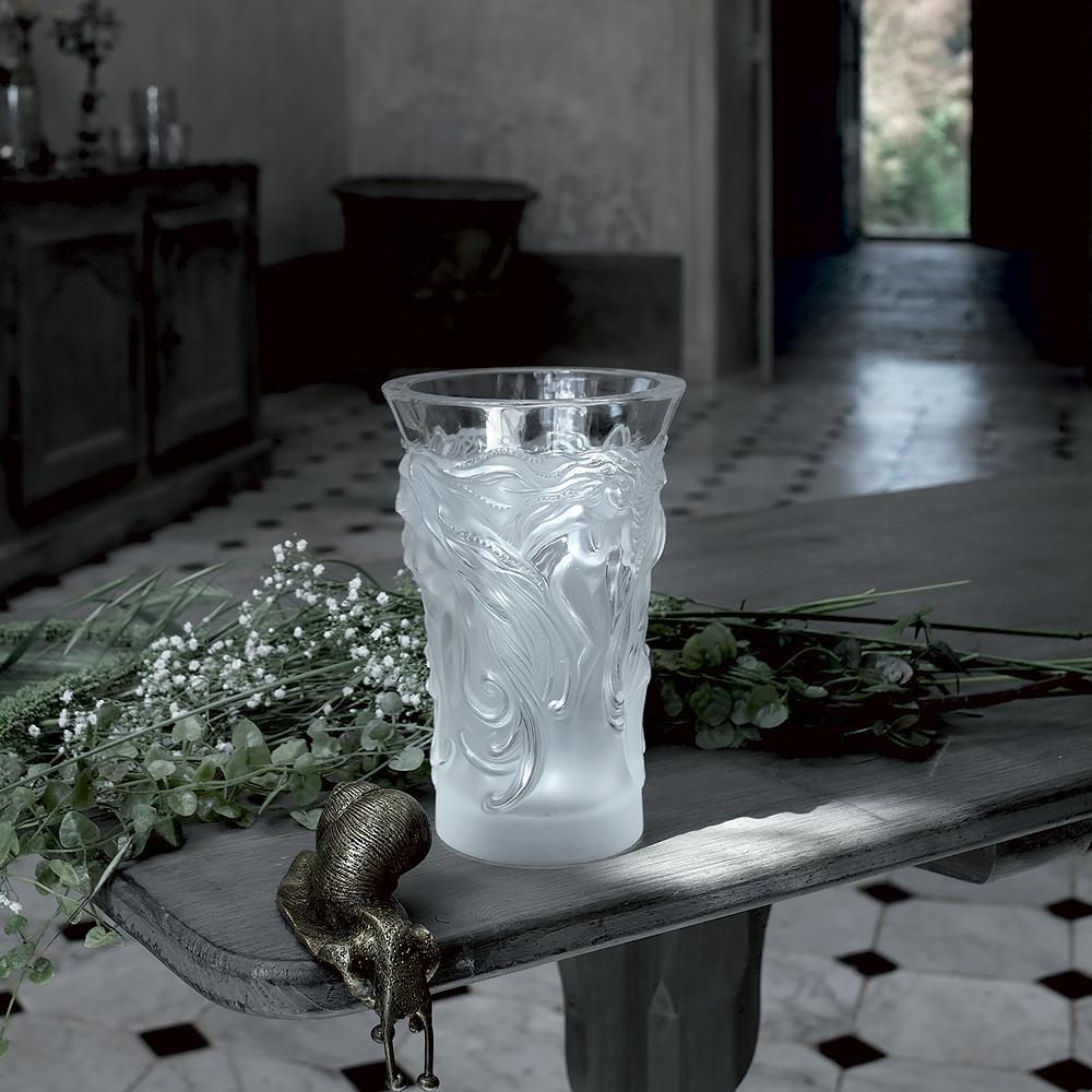 Fantasia vase | Clear crystal | Vase Lalique