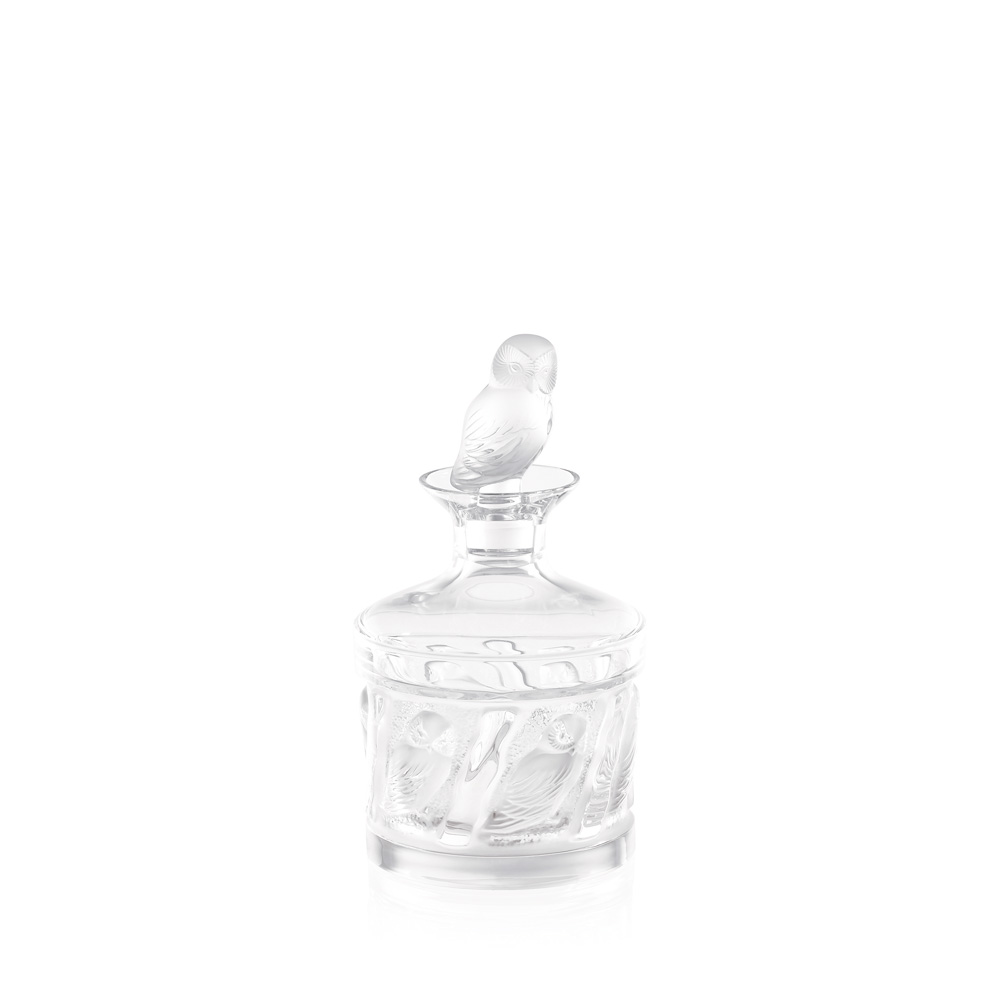 Owl decanter | Hulotte collection, clear crystal | Decanter Lalique