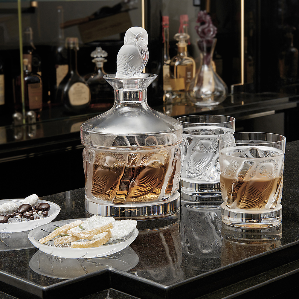 Owl Whisky Tumbler Owl Collection Clear Crystal Glass
