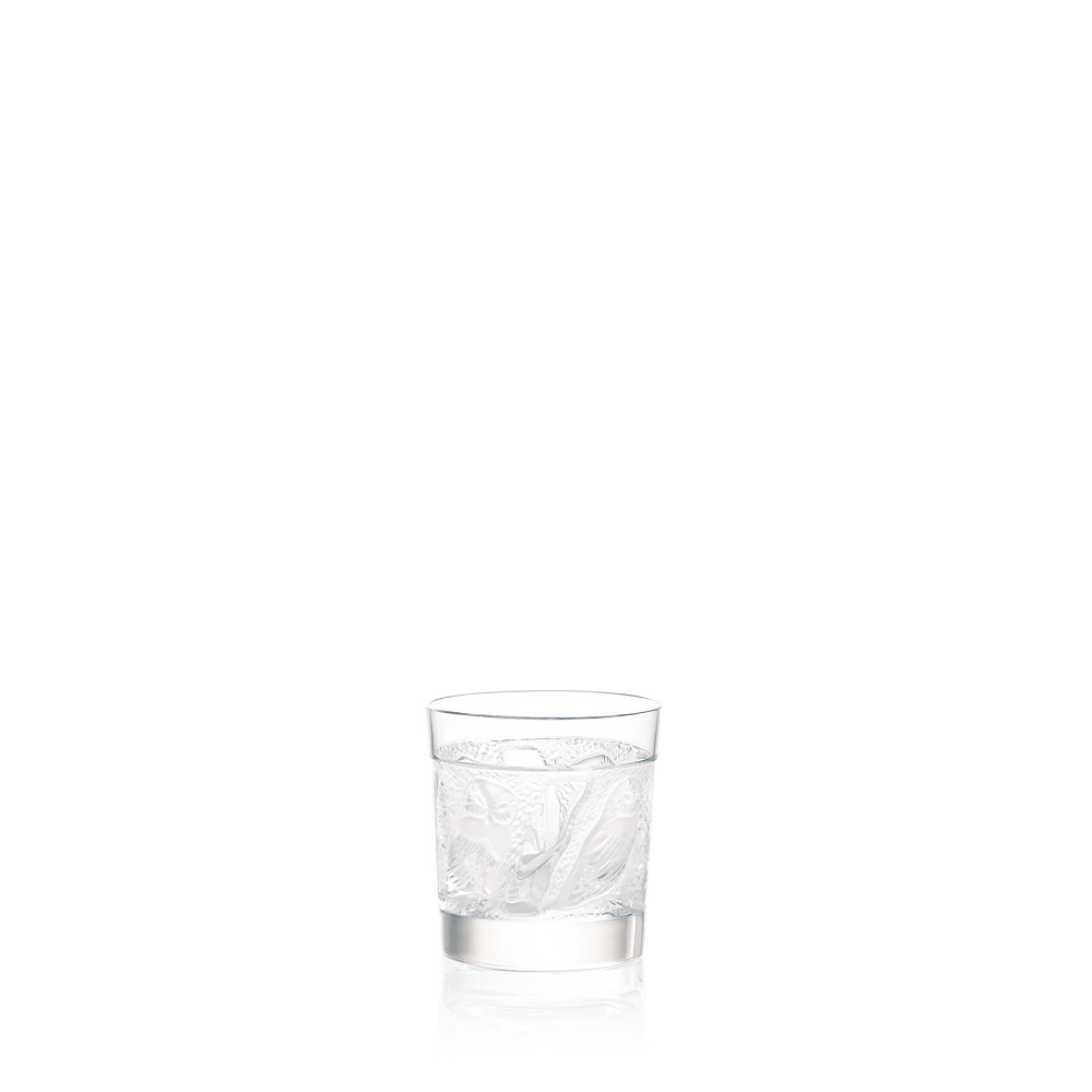 Owl Whisky tumbler | Owl collection, clear crystal | Glass Lalique