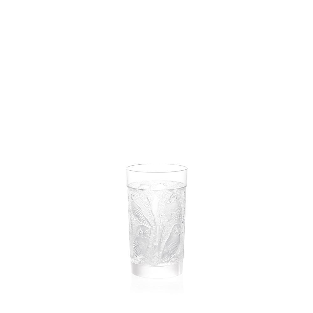 Owl highball glass | Owl collection, clear crystal | Glass Lalique