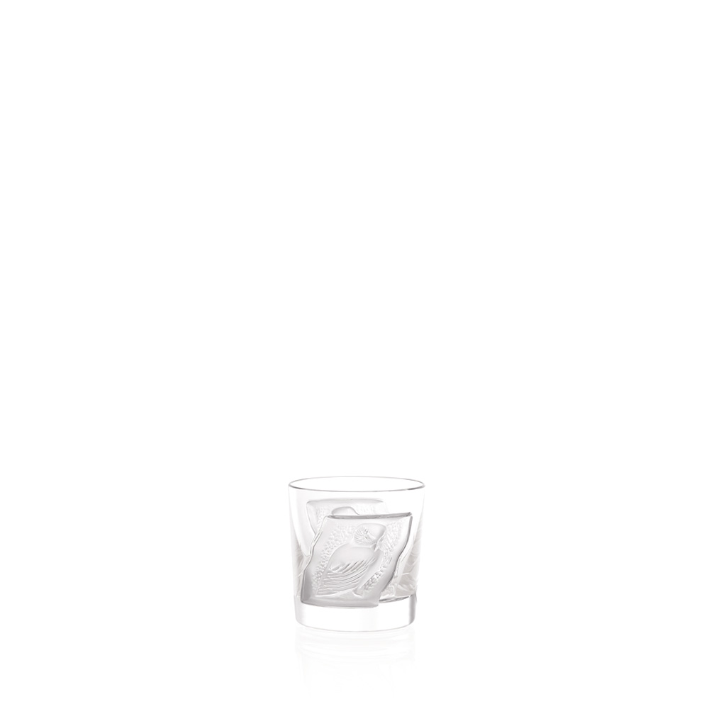 Owl cordial tumbler | Owl collection, clear crystal | Glass Lalique