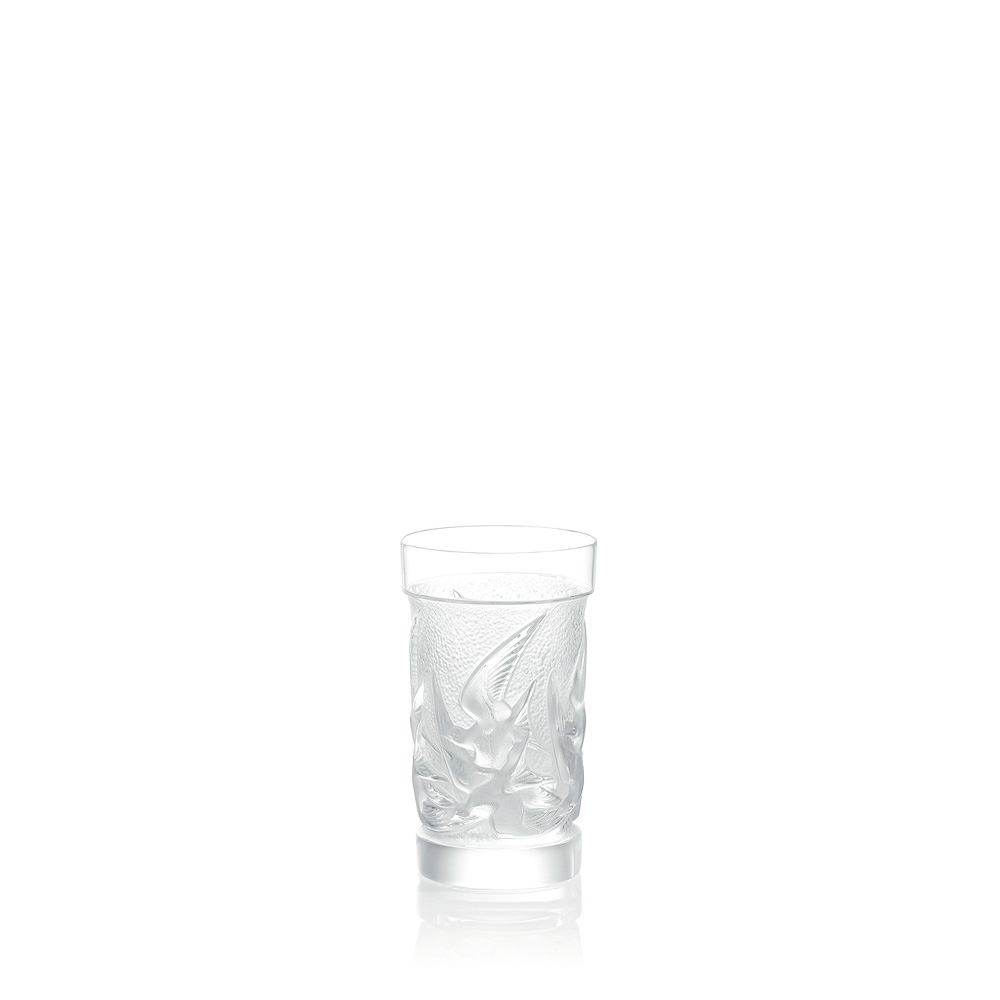 Swallows highball glass | Swallows collection, clear crystal | Glass Lalique