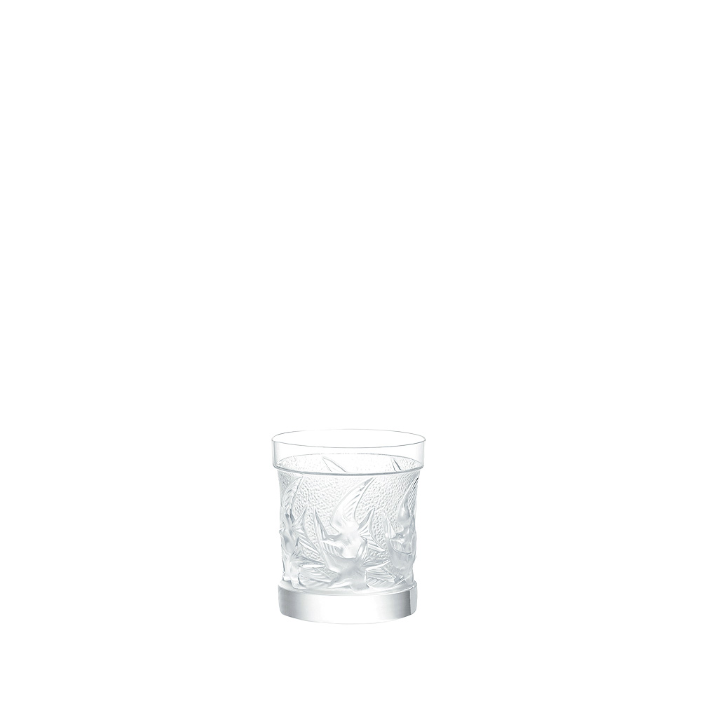 Swallows Old Fashion tumbler | Swallows collection, clear crystal | Glass Lalique