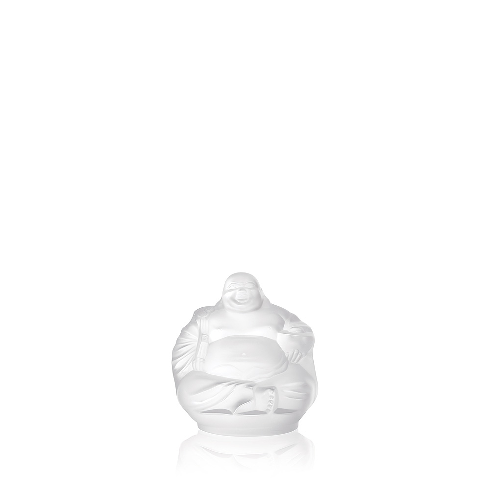 Happy Buddha sculpture | Clear crystal | Sculpture Lalique