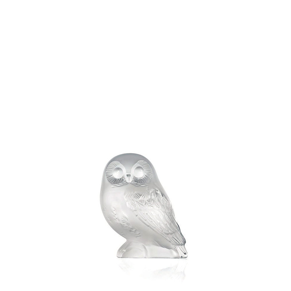Shivers Owl sculpture | Clear crystal | Sculpture Lalique