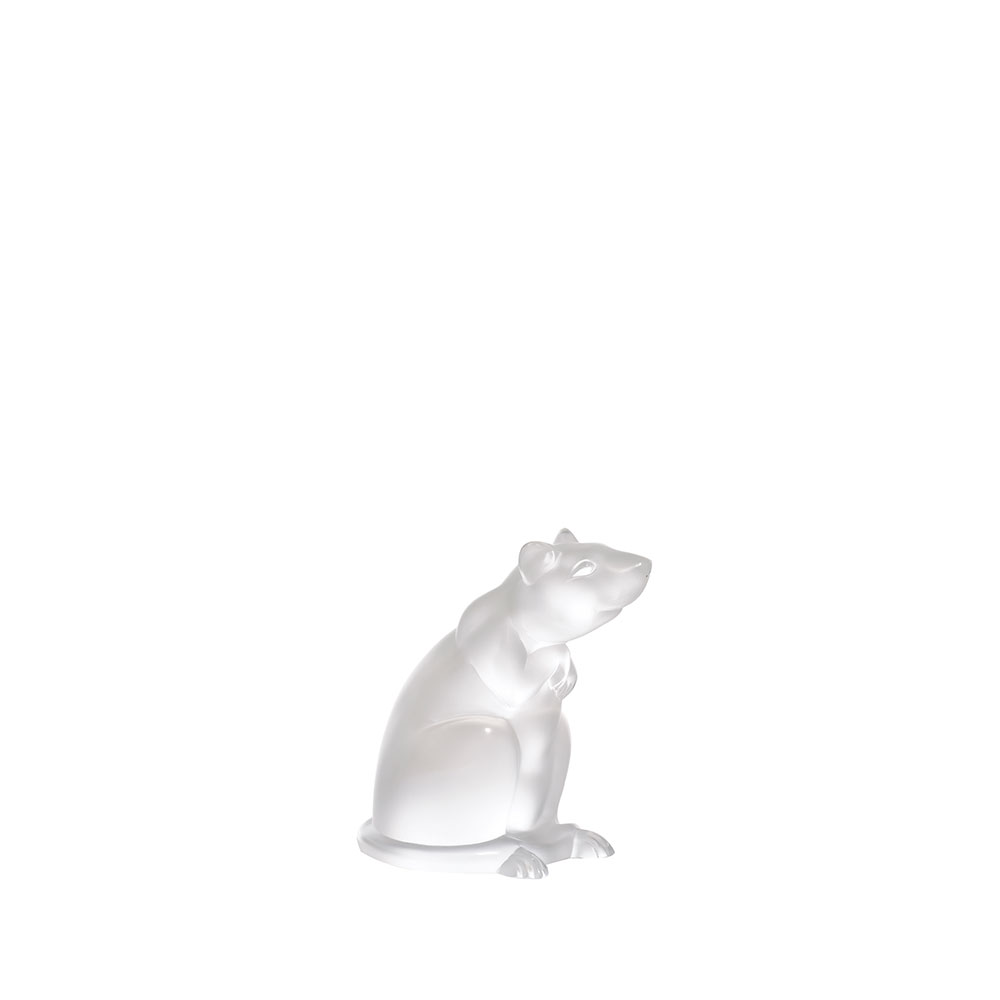 Rat sculpture | Clear crystal | Sculpture Lalique