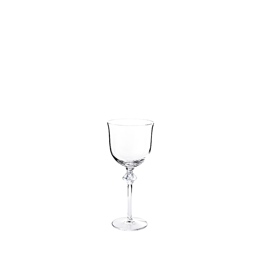 Roxane Burgundy glass | Roxane collection, clear crystal | Glass Lalique
