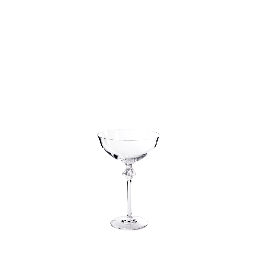 Roxane Champagne coupe | Roxane collection, clear crystal | Glass Lalique