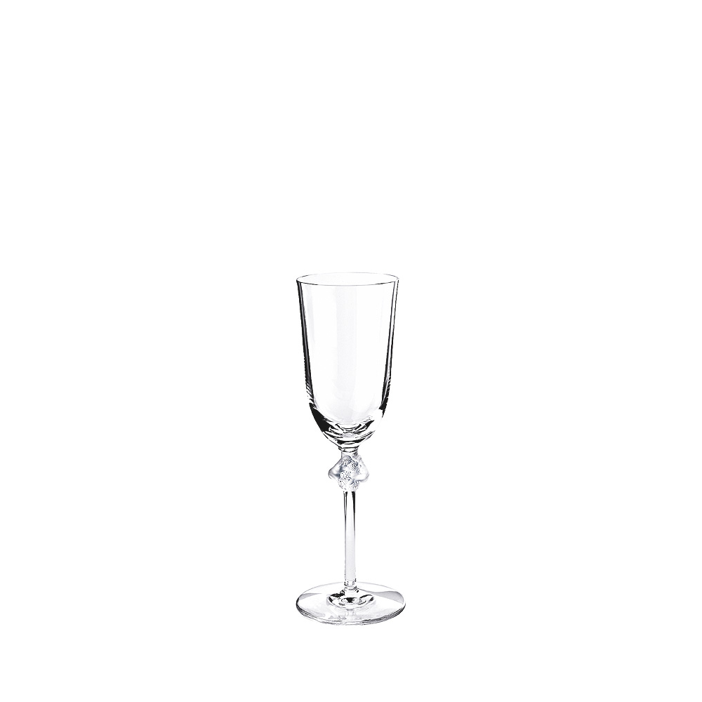 Roxane Champagne flute | Roxane collection, clear crystal | Glass Lalique