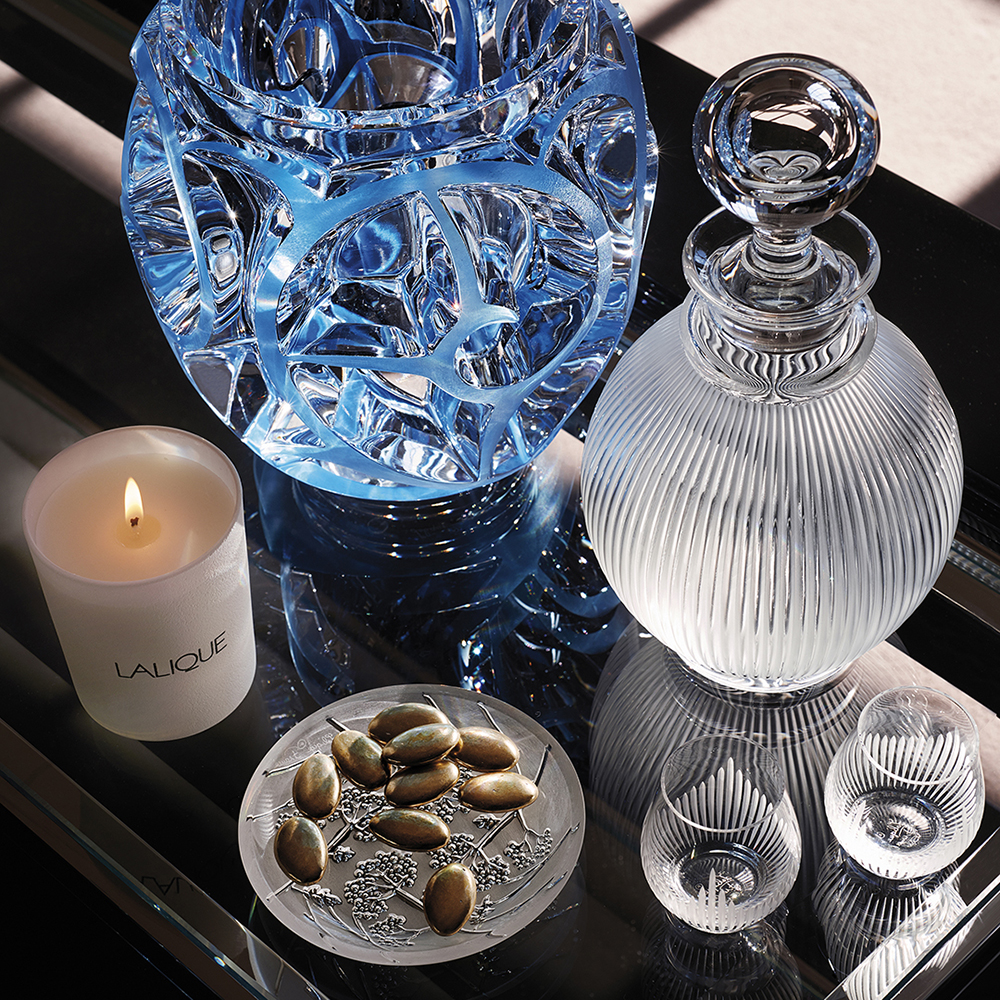 Langeais wine decanter | Langeais collection, clear crystal | Decanter Lalique