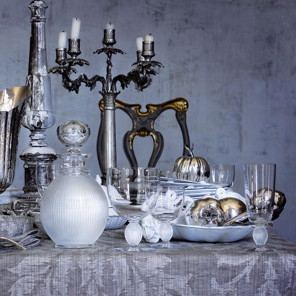 Langeais water glass N°2   Langeais collection, clear crystal   Glass Lalique