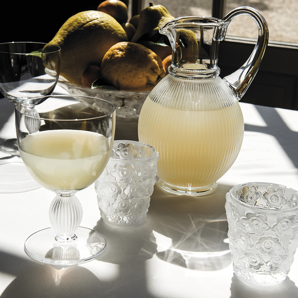 Langeais water glass N°2 | Langeais collection, clear crystal | Glass Lalique