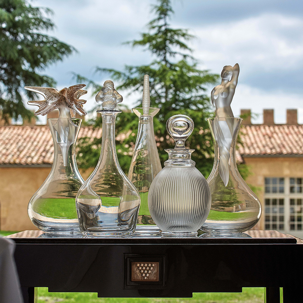 Louvre wine decanter | Louvre collection, clear crystal | Decanter Lalique