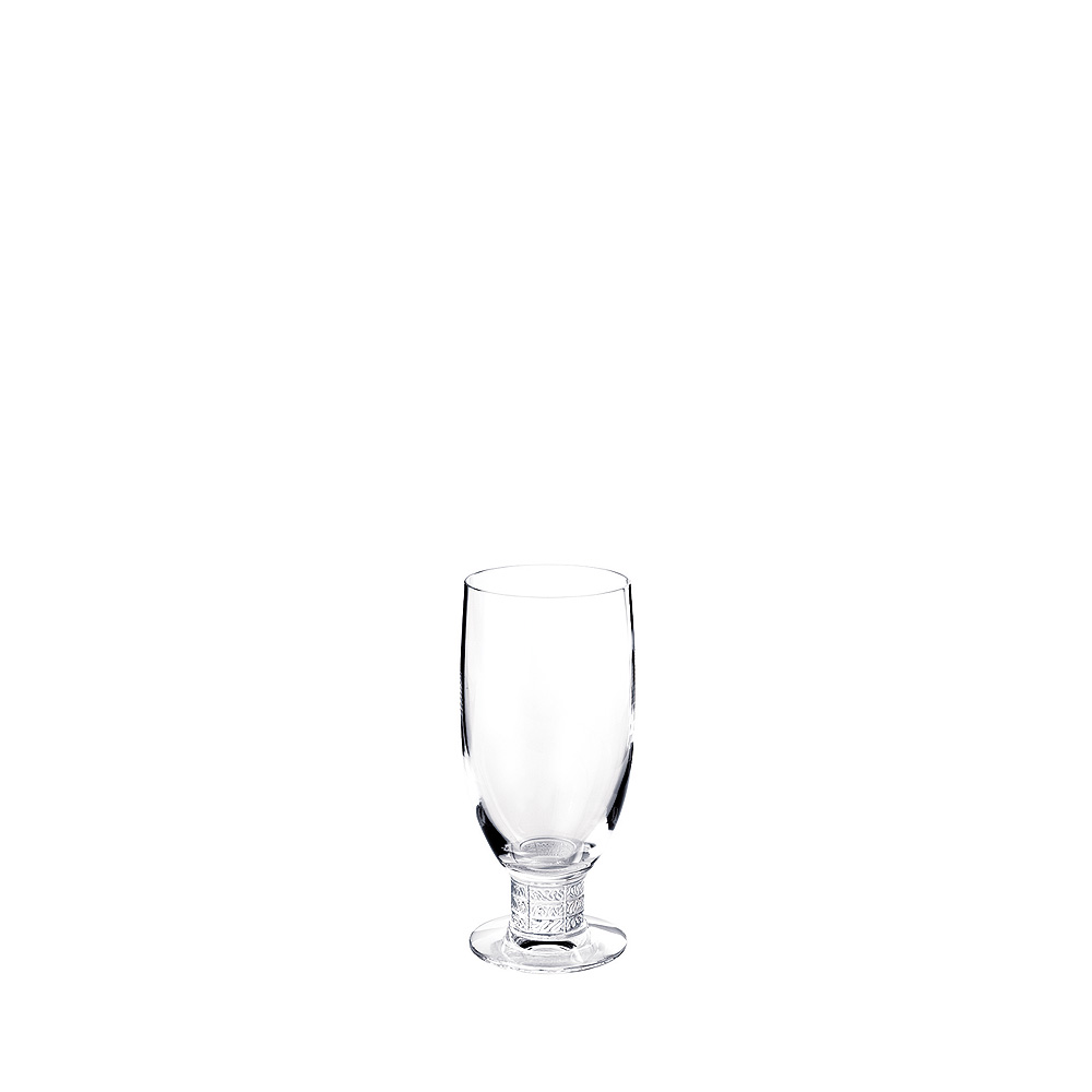 Louvre beer glass | Louvre collection, clear crystal | Glass Lalique