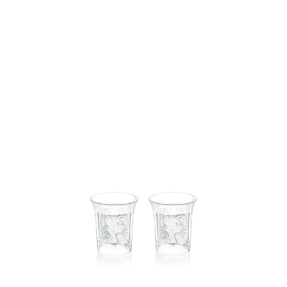 Set of 2 Enfants liquor shot glasses | Enfants collection, clear crystal | Glass Lalique