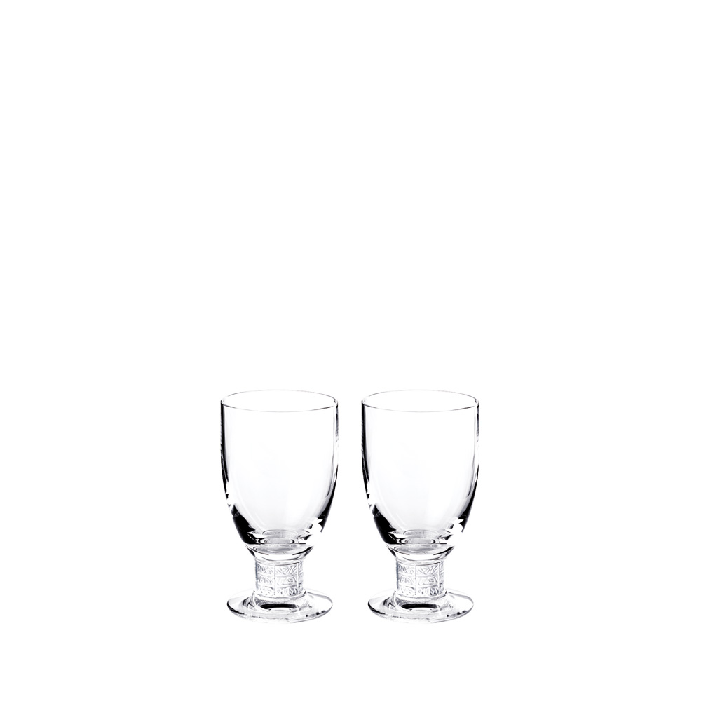 Set of 2 Louvre Bordeaux glasses | Louvre collection, clear crystal | Glass Lalique