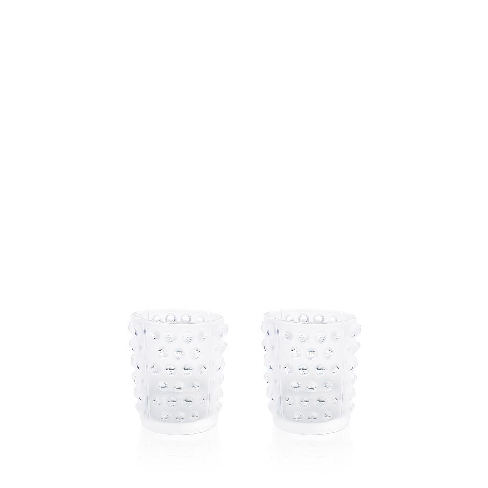 Set of 2 Mossi votives | Clear crystal | Candleholder & votive Lalique