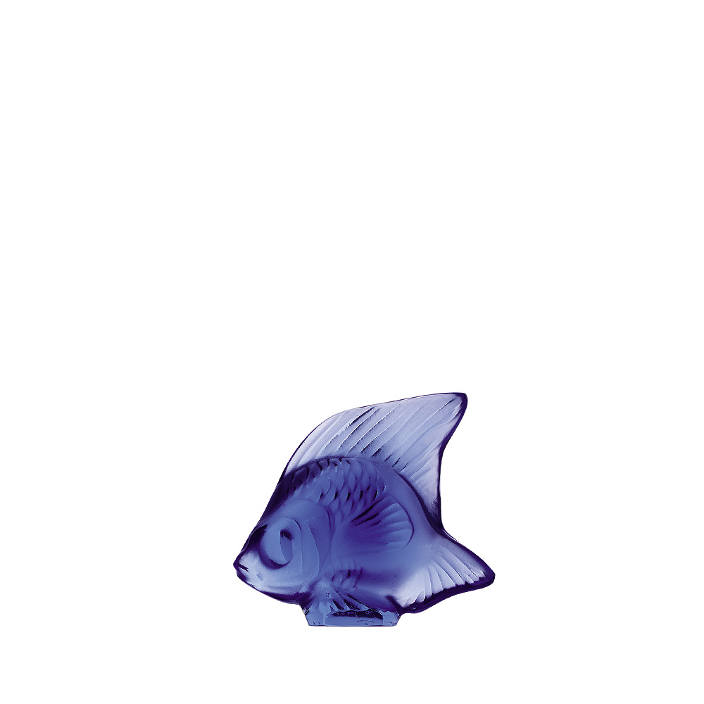 Fish sculpture | Sapphire blue crystal | Sculpture Lalique