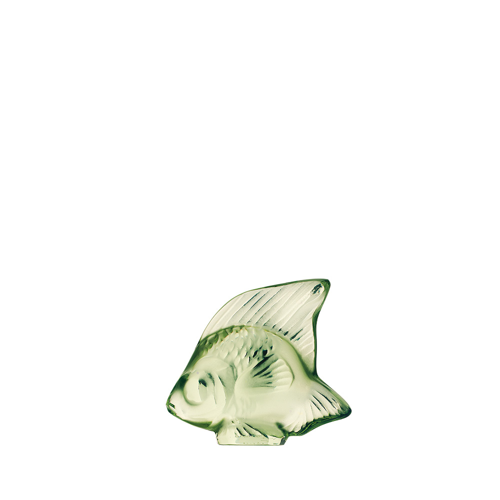 Fish sculpture | Light green crystal | Sculpture Lalique