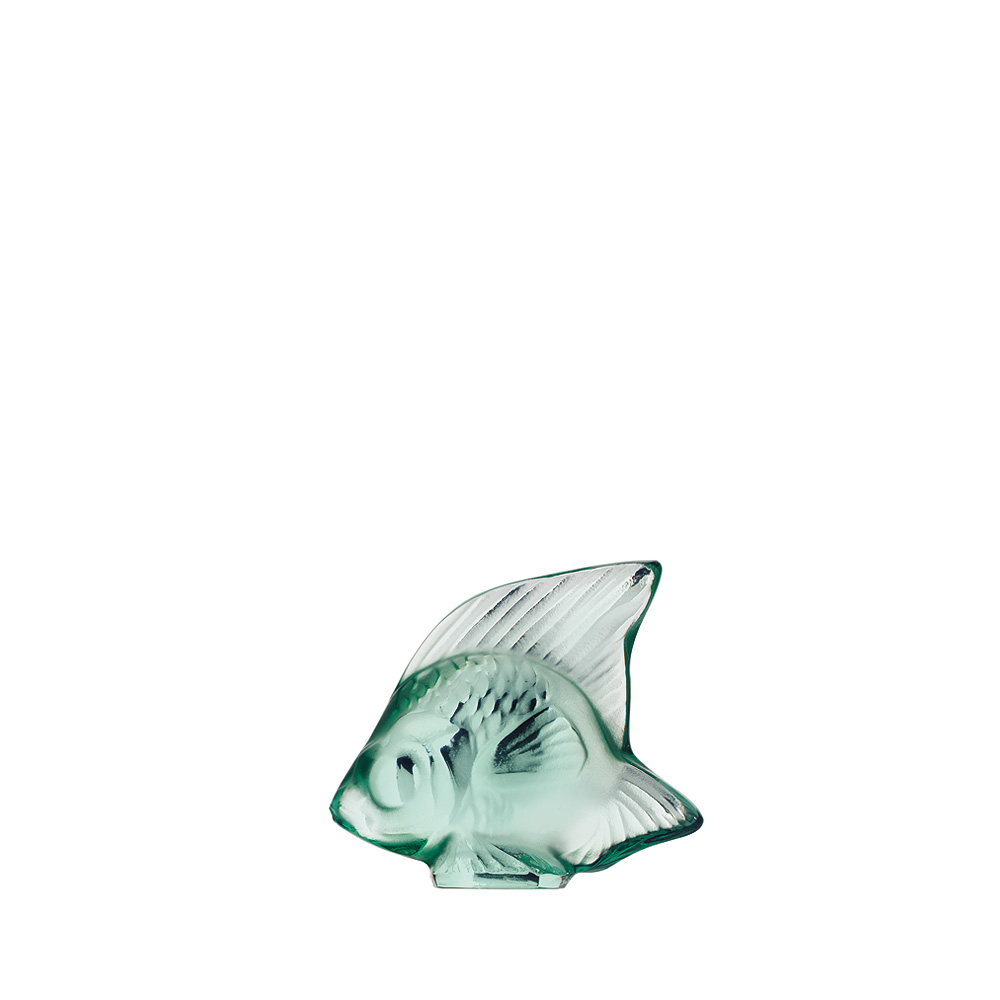 Fish sculpture | Mint green crystal | Sculpture Lalique