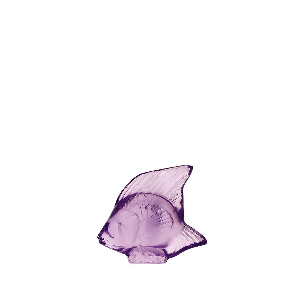 Fish sculpture | Light purple crystal | Sculpture Lalique