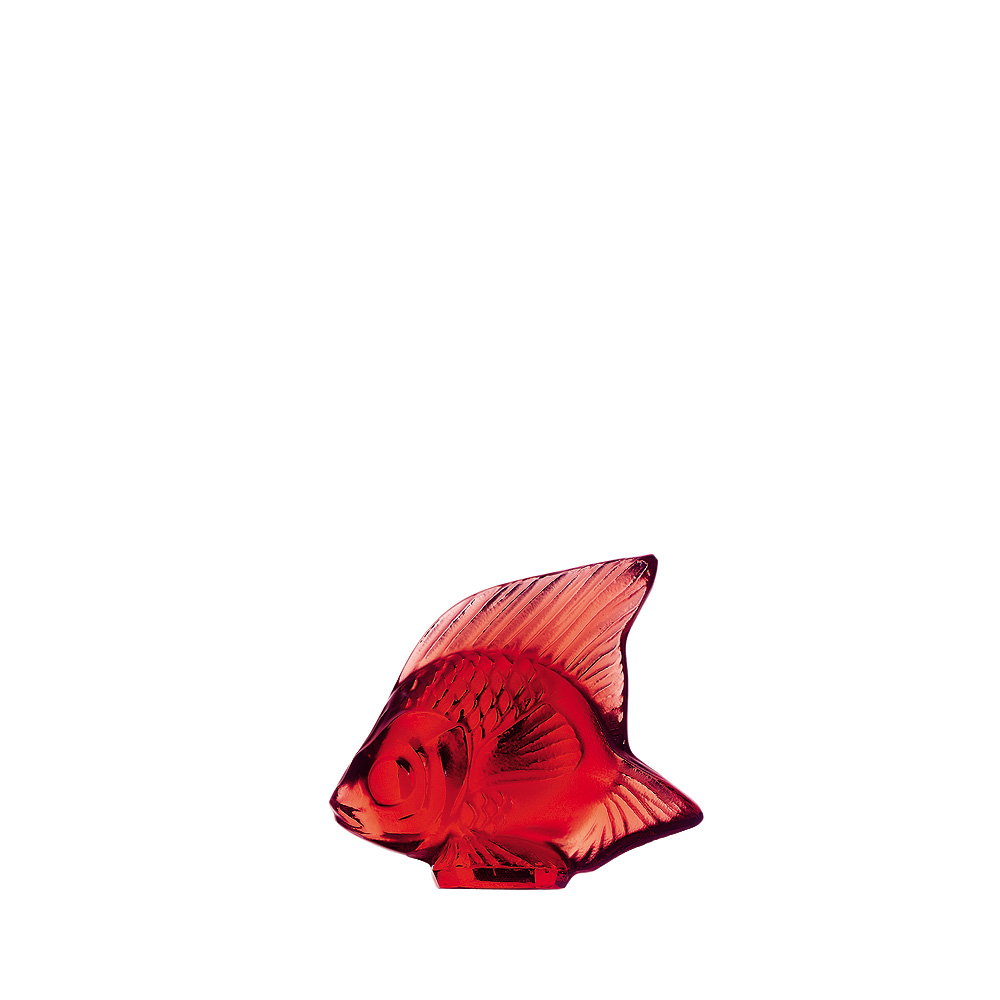 Fish sculpture | Red crystal | Sculpture Lalique