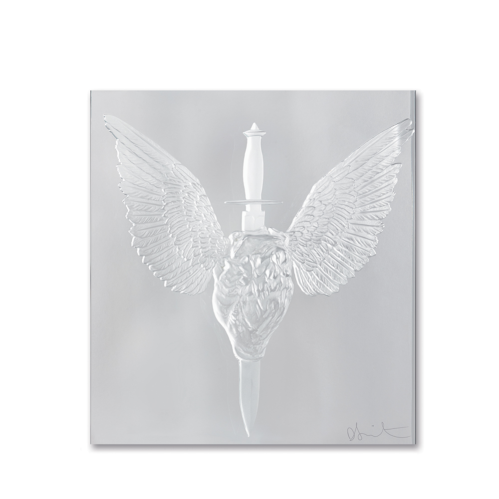 Eternal Prayer, crystal panel | Limited edition (50 pieces), clear crystal | Eternal, Damien Hirst and Lalique