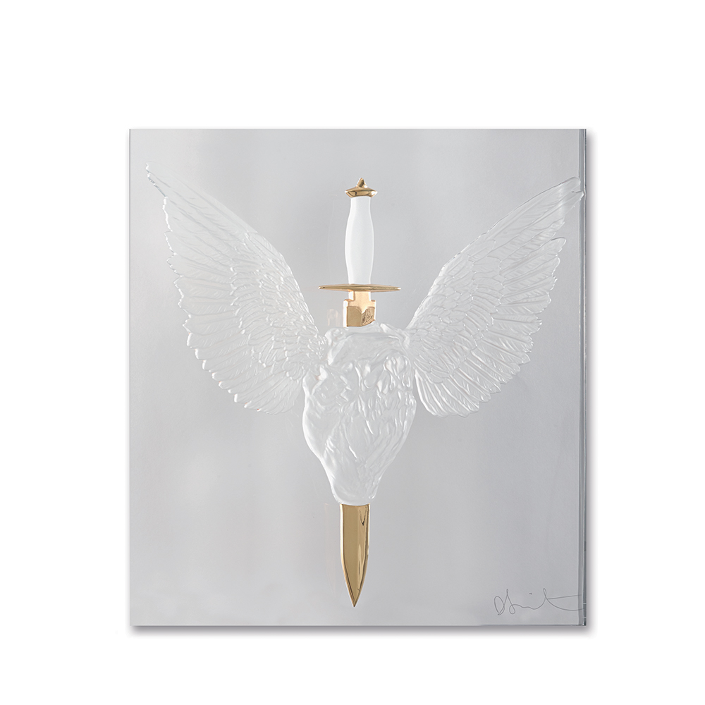 Eternal Prayer, crystal panel | Limited edition (50 pieces), clear crystal and gold stamped | Eternal, Damien Hirst and Lalique