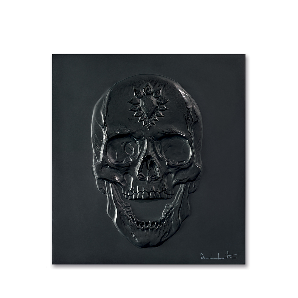 Eternal Memento, crystal panel | Limited edition (50 pieces), black crystal| Eternal, Damien Hirst and Lalique