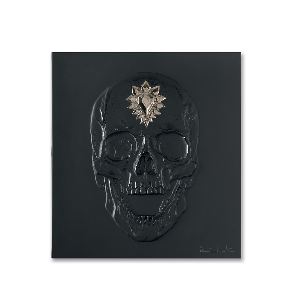 Eternal Memento, crystal panel | Limited edition (50 pieces), black crystal and platinum stamped| Eternal, Damien Hirst and Lalique