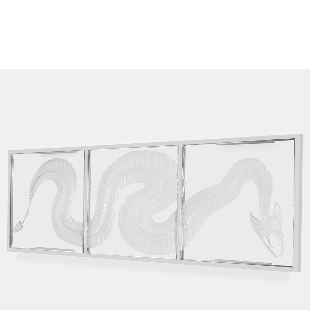 Eternal Sinner, crystal panel | Limited edition (35 pieces), clear crystal| Eternal, Damien Hirst and Lalique