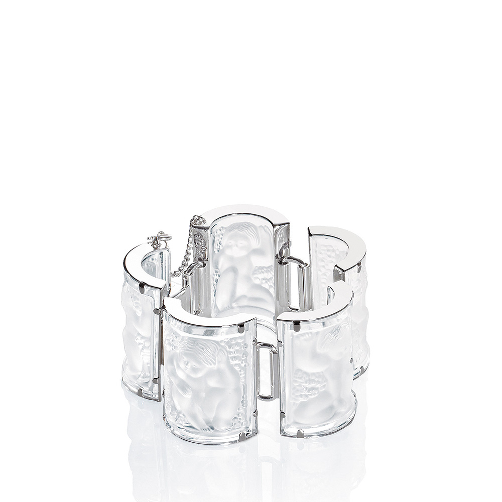 Nysa bracelet | Clear crystal, silver | Costume jewellery Lalique