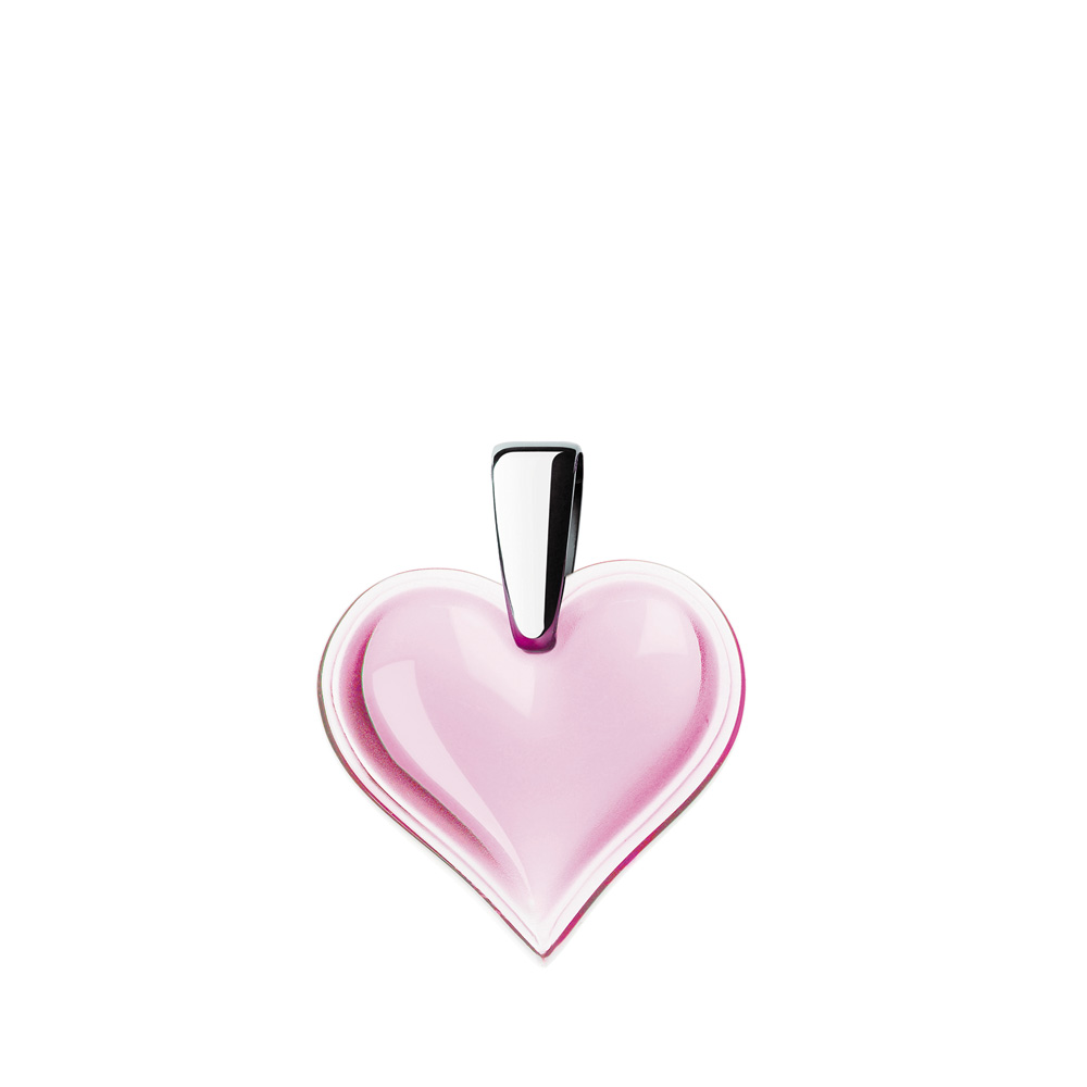 Amoureuse Beaucoup pendant | Pink crystal, silver | Costume jewellery Lalique