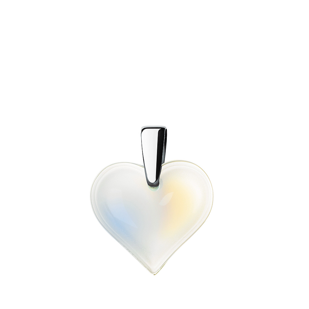 Amoureuse Beaucoup pendant | Opalescent crystal, silver | Costume jewellery Lalique