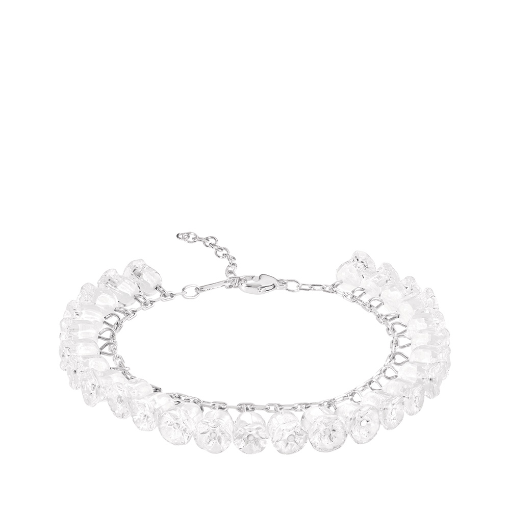 Muguet bracelet | 26 clear crystals, silver | Costume jewellery Lalique