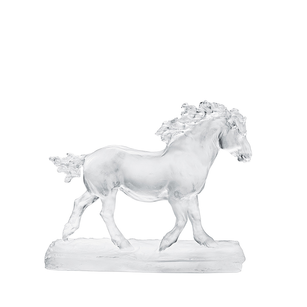 Mare sculpture | Limited edition (8 pieces), clear crystal | Rembrandt Bugatti by Lalique