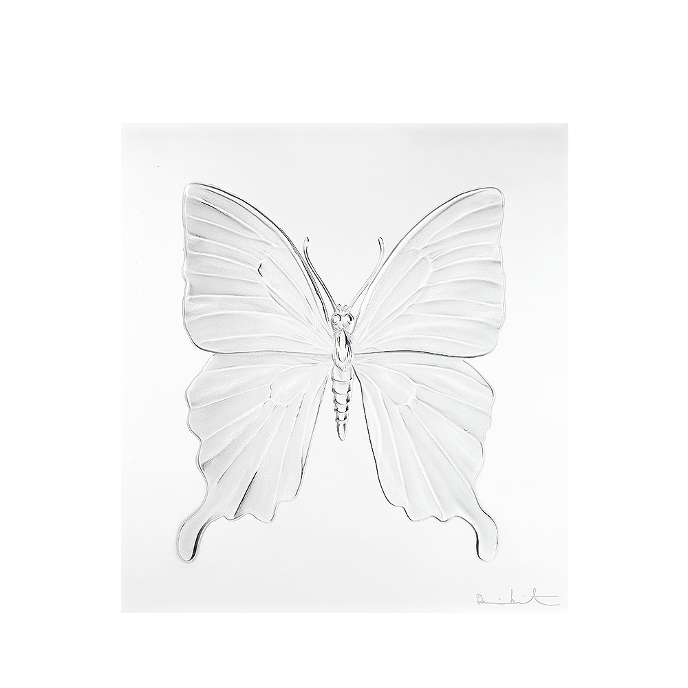 Eternal Beauty, crystal panel | Limited edition (50 pieces), clear crystal | Eternal, Damien Hirst and Lalique