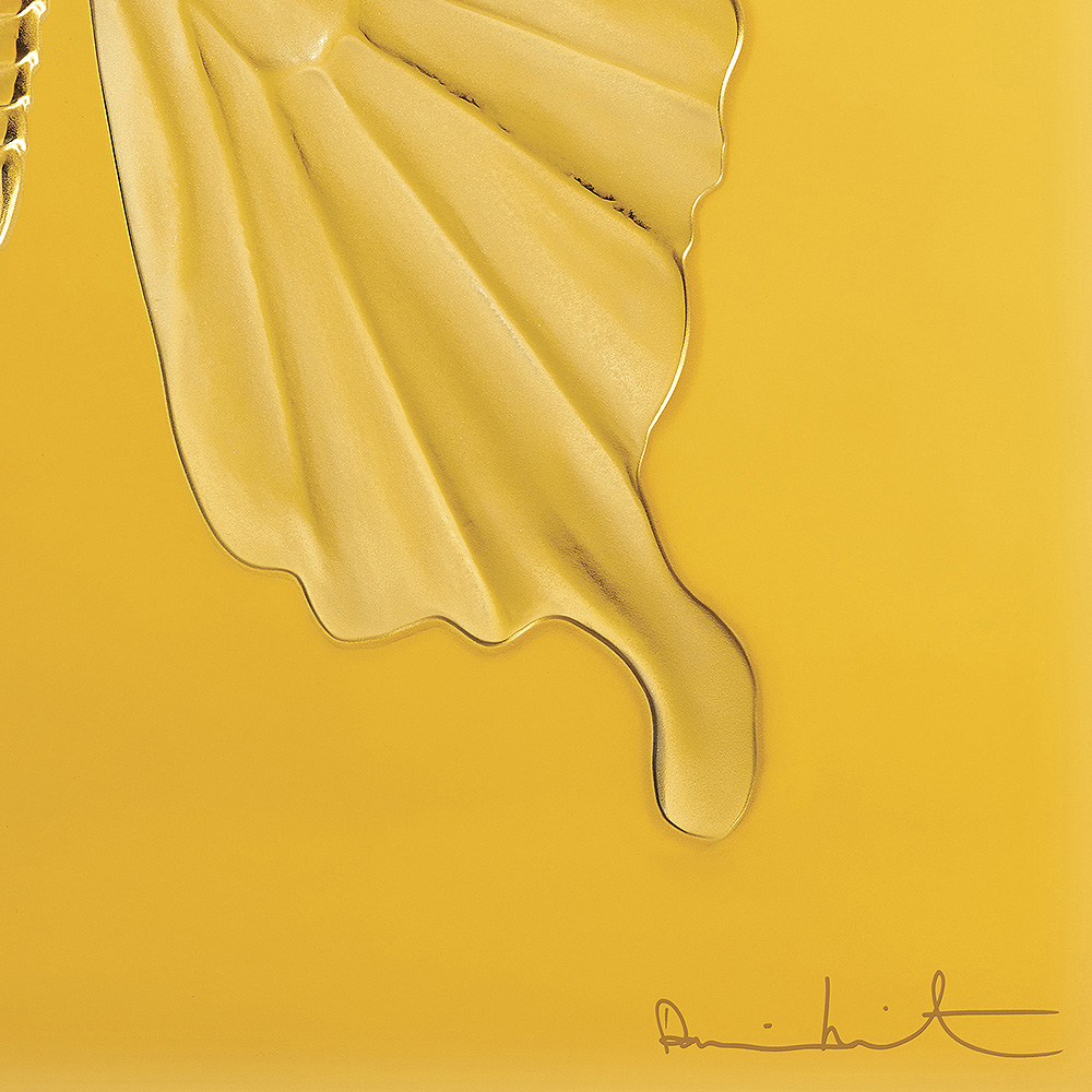 Eternal Beauty, crystal panel   Limited edition (50 pieces), amber crystal   Eternal, Damien Hirst and Lalique