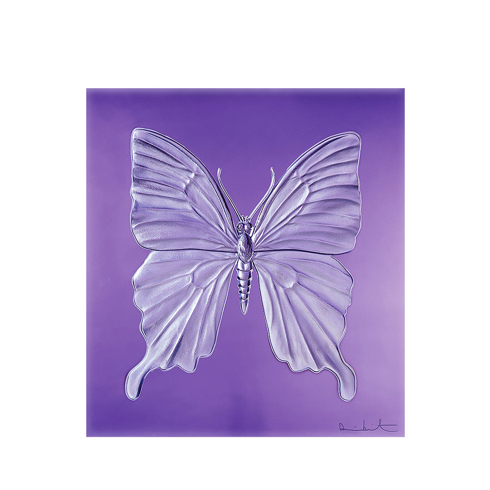 Eternal Beauty, crystal panel | Limited edition (50 pieces), purple crystal | Eternal, Damien Hirst and Lalique