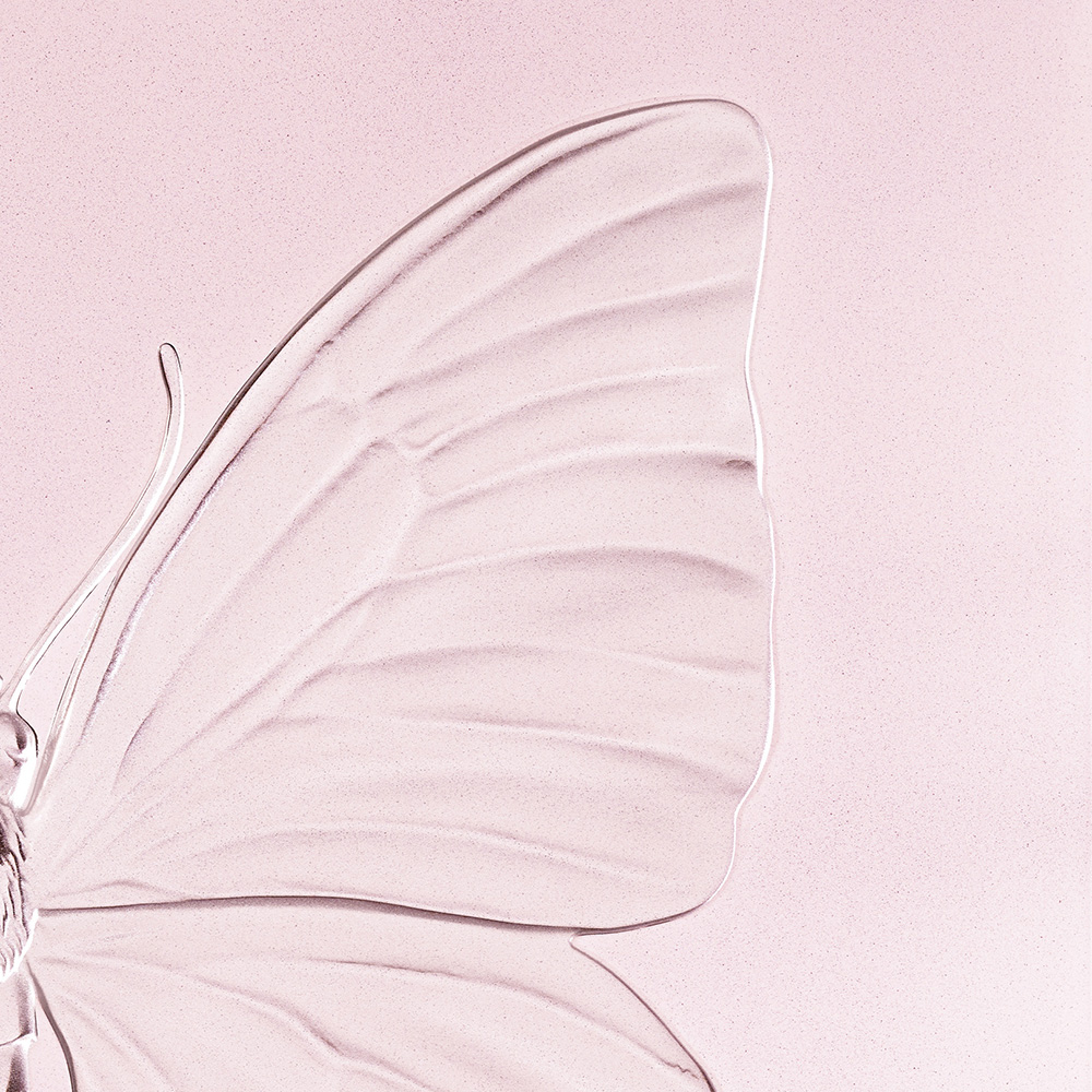 Eternal Beauty, crystal panel | Limited edition (50 pieces), pink crystal | Eternal, Damien Hirst and Lalique
