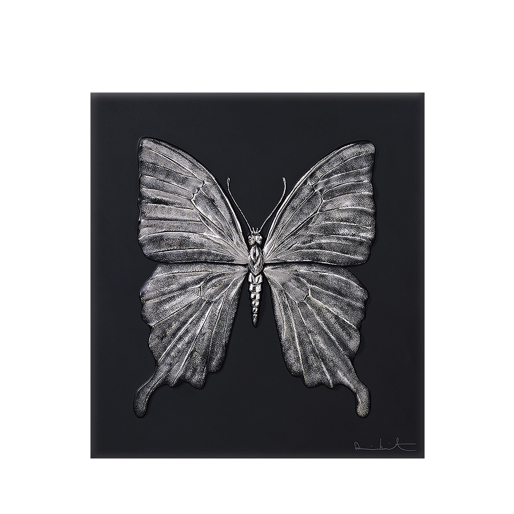 Eternal Beauty, crystal panel | Limited edition (50 pieces), black crystal and platinum stamped | Eternal, Damien Hirst and Lalique