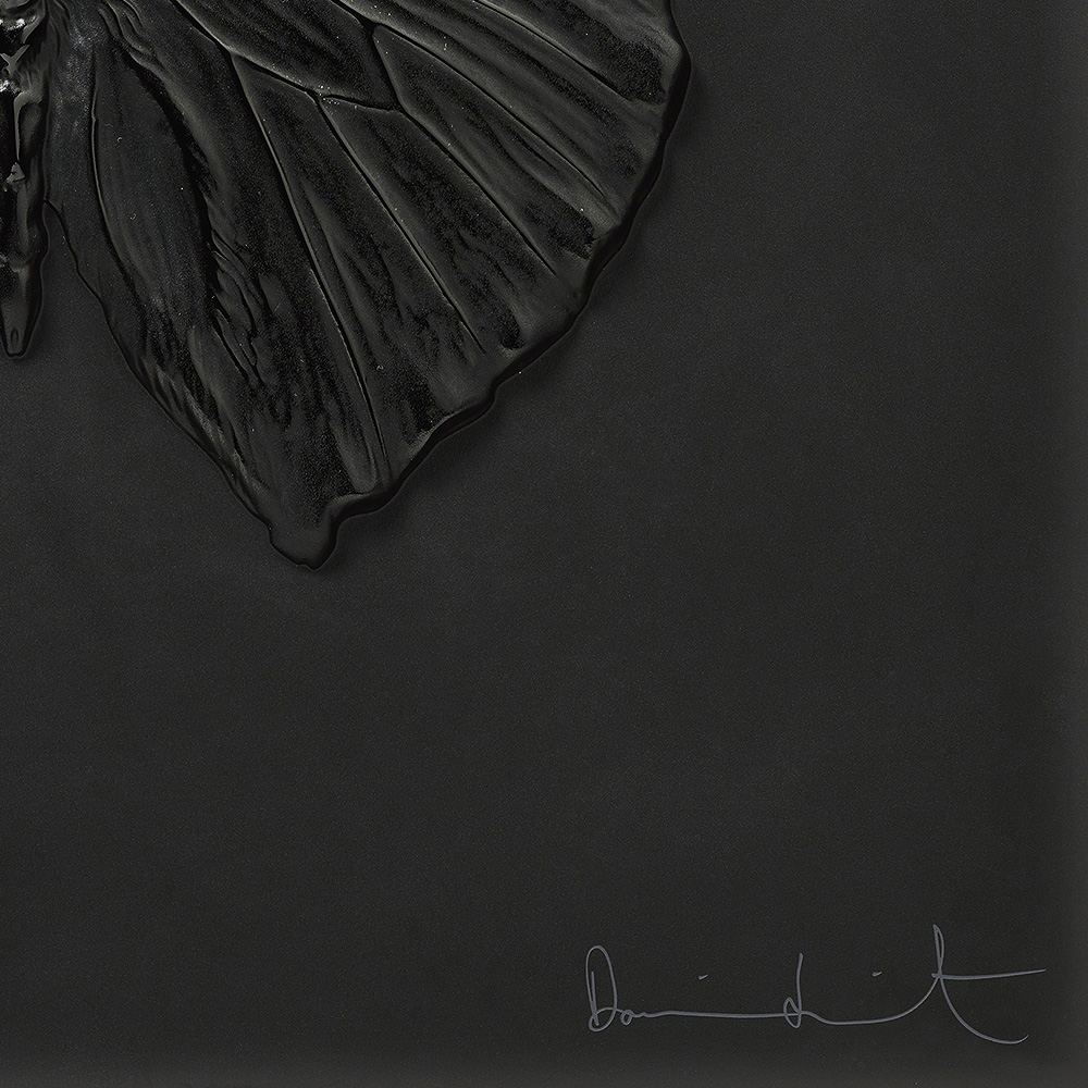Eternal Love, crystal panel | Limited edition (50 pieces), black crystal | Eternal, Damien Hirst and Lalique
